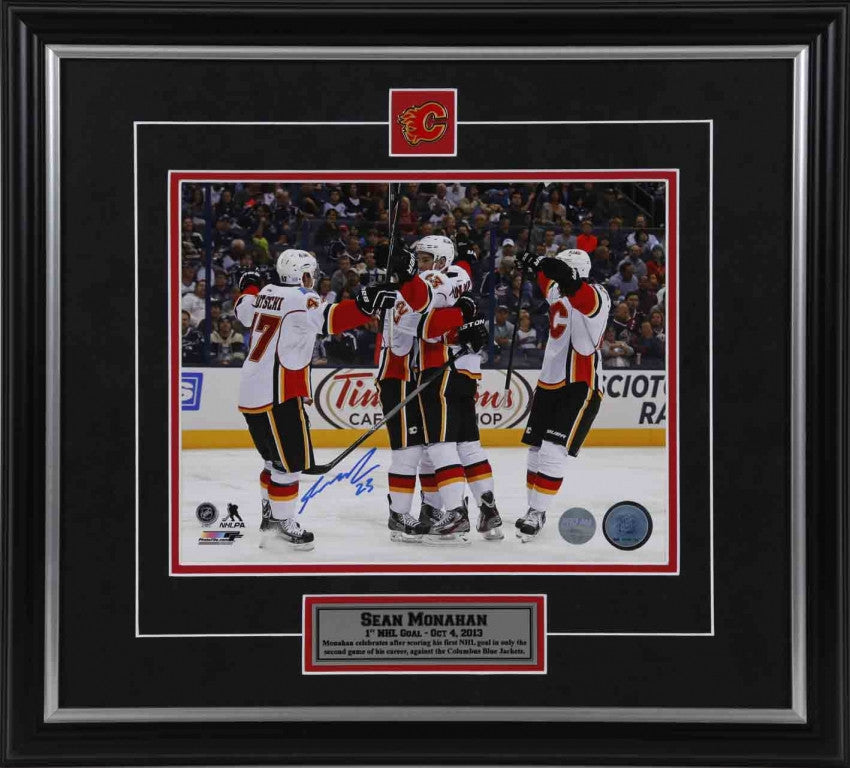 Sean Monahan Calgary Flames - First Goal - Signed 8x10 Photo