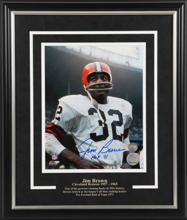 Jim Brown Cleveland Browns Autographed 8x10 Photo