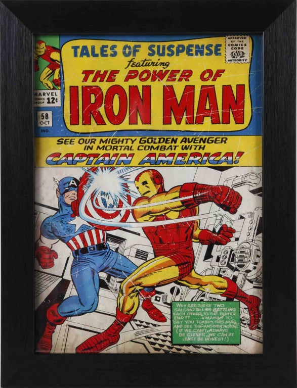Tales of Suspense #58 Featuring Iron Man & Captain America Comic Book Cover 8x10 Value Frame