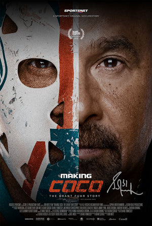 "Grant Fuhr Edmonton Oilers ""Making Coco"" Signed Metallic Movie Poster"