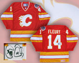 Theo Fleury - Calgary Flames Signed Red Replica Jersey