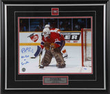 Patrick Roy Montreal Canadiens vs. Calgary Signed 11x14 Photo LE of 33