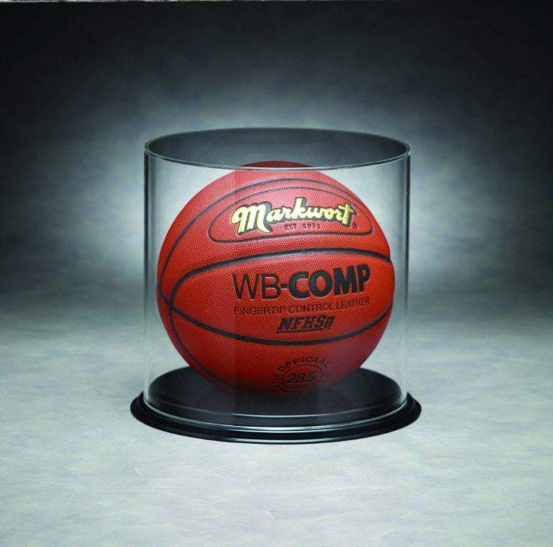 Basketball, Volleyball, or Soccer Ball Curved Acrylic Display Case