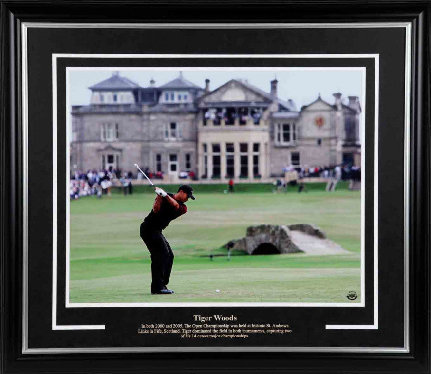 Tiger Woods British Open 16x20 Framed Photograph