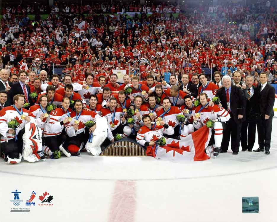 Team Canada 2010 Gold Medal 8x10 Photograph