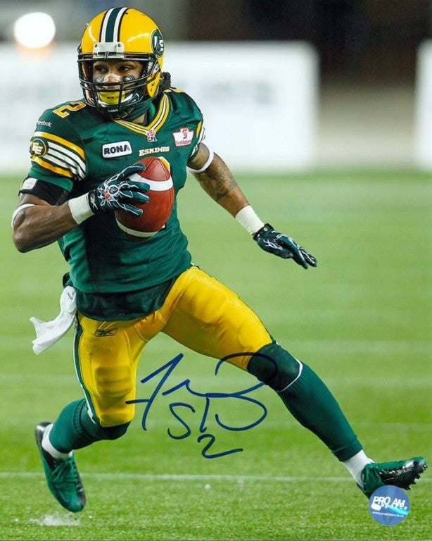 Fred Stamps Edmonton Eskimos Autographed 8x10 Photo