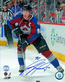 Gabriel Landeskog Colorado Avalanche Looking Up Ice Signed 16x20 Photo