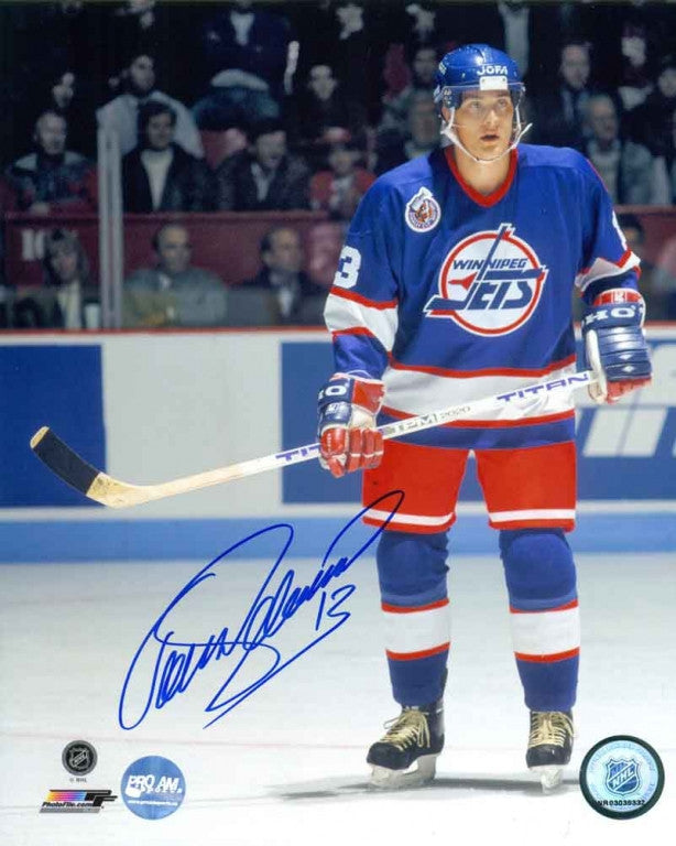 super popular 50a37 bfef5 Teemu Selanne Winnipeg Jets Autographed 8x10 Photo