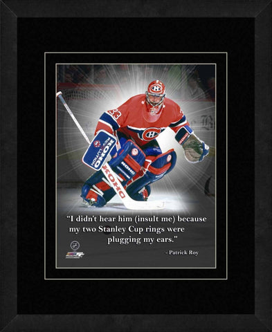 Patrick Roy Montreal Canadiens Framed 11x14 Pro Quote 588b19c2e