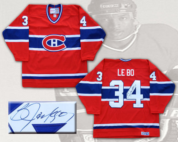 Bo Jackson Montreal Canadiens Signed Le Bo Replica Jersey