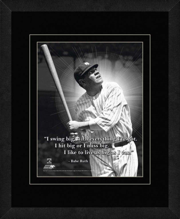 Babe Ruth New York Yankees Framed 11x14 Pro Quote