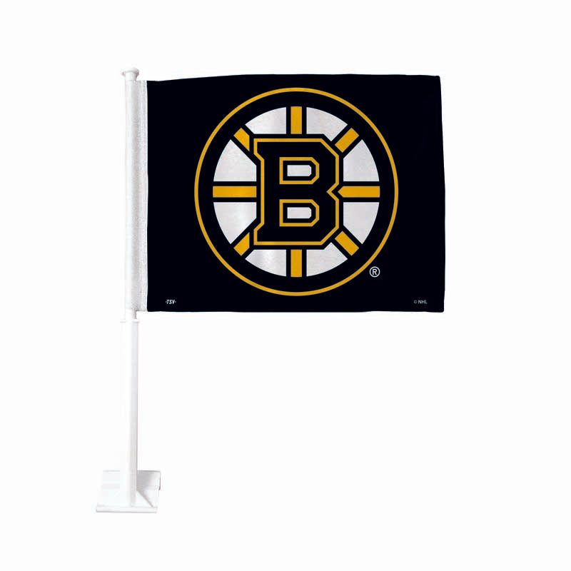 Boston Bruins Black Car Flag