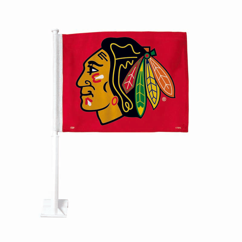Chicago Blackhawks Red Car Flag