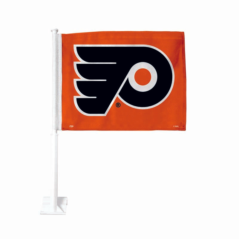 Philadelphia Flyers Orange Car Flag
