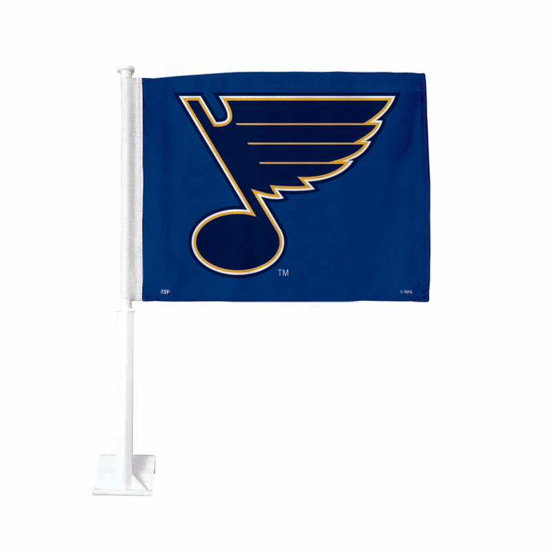 St Louis Blues Blue Car Flag