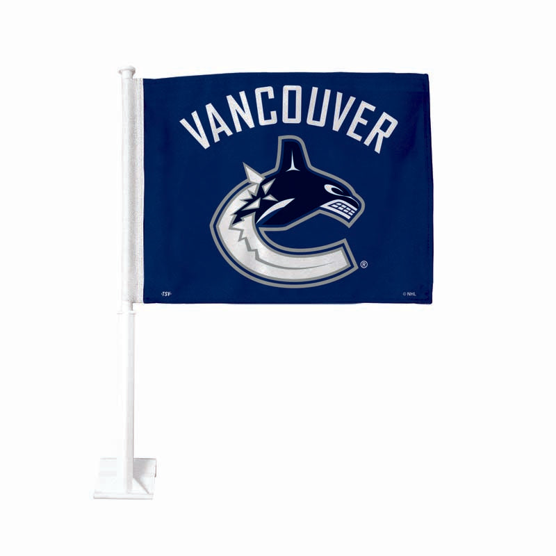 Vancouver Canucks Blue Car Flag