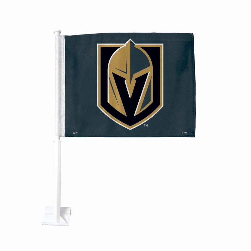 Vegas Golden Knights Grey Car Flag