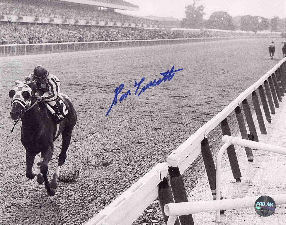 Ron Turcotte - Looking Way Back - Signed 8x10 Photo