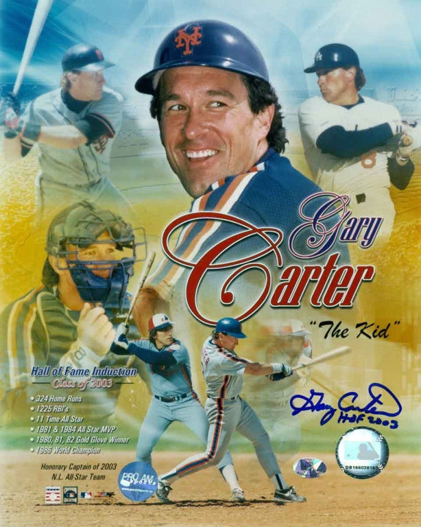 Gary Carter Career Collage Autographed 8x10 Photo