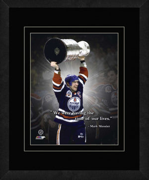 Mark Messier Edmonton Oilers - Time Of Our Lives - Framed 11x14 Pro Quote