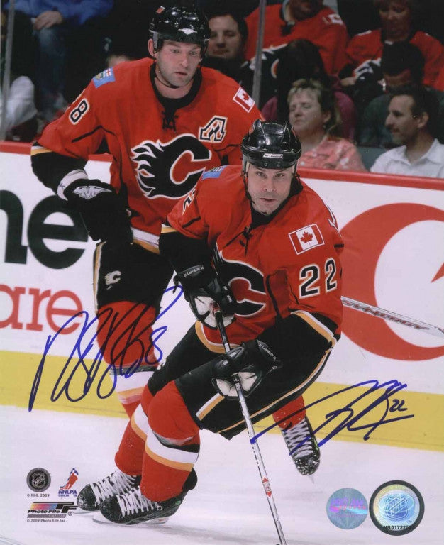 Robyn Regehr & Daymond Langkow Dual Signed 11x14 Photo
