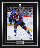 Gabriel Landeskog Colorado Avalanche Looking Up Ice Signed 11x14 Photo