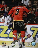 Dion Phaneuf - Calgary Flames Oil Demolition Signed 16x20 Photo