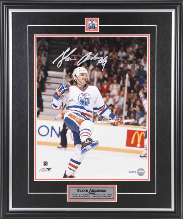 Glenn Anderson -  Edmonton Oilers Clutch LE/109 Signed 11x14 Photo