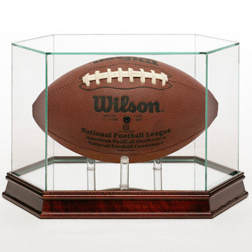Glass Football Display Case