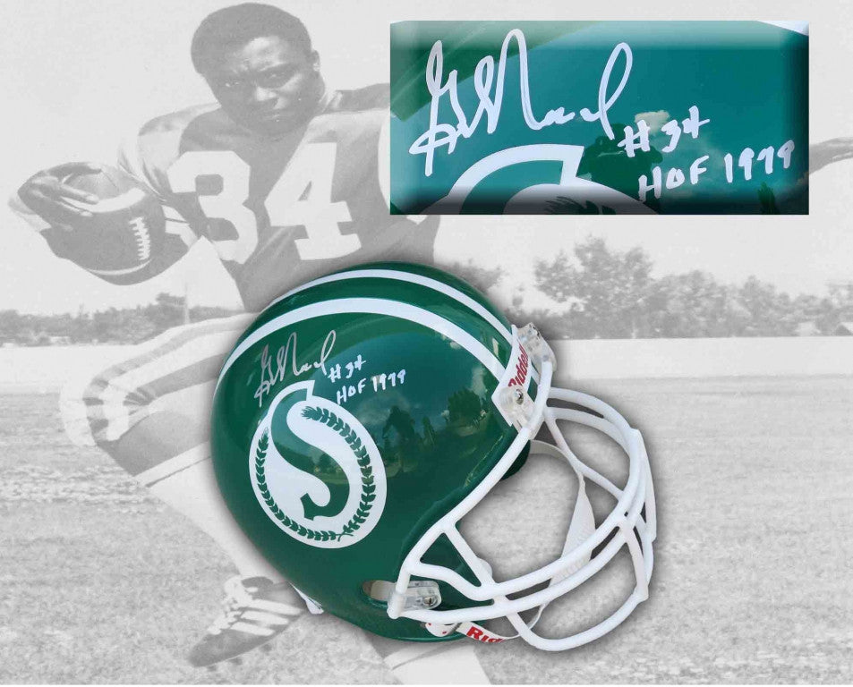 George Reed Saskatchewan Roughriders Signed Vintage Replica Helmet