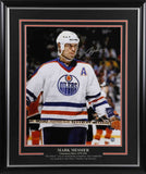 Mark Messier Edmonton Oilers Signed - The Stare - 20x24 Framed Photo
