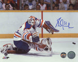 Grant Fuhr Edmonton Oilers - Big Glove Save - Signed 8x10 Photo