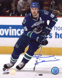 Trevor Linden Vancouver Canucks - Looking Up Ice - Signed 8x10 Photo