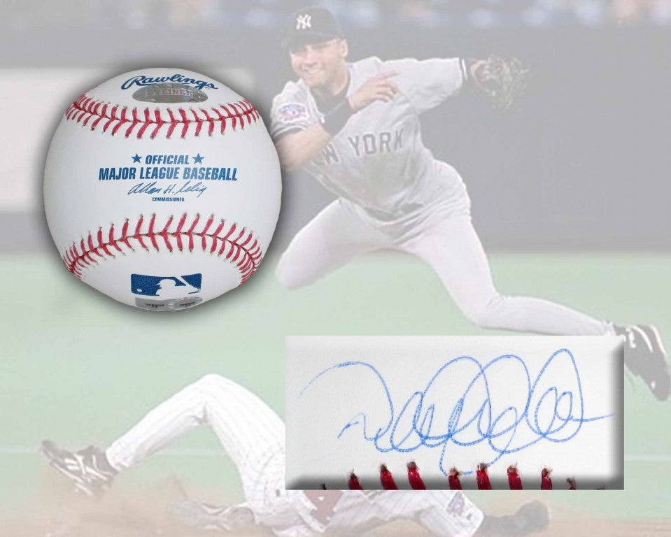 Derek Jeter Signed Official Rawlings Major League Baseball