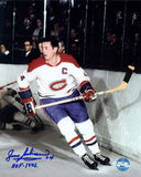 Jean Beliveau Montreal Canadiens Autographed Framed 8x10 Photo