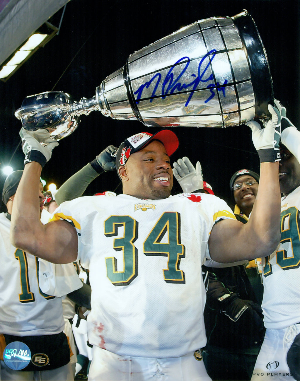 Mike Pringle Edmonton Eskimos Autographed 8x10 Photo