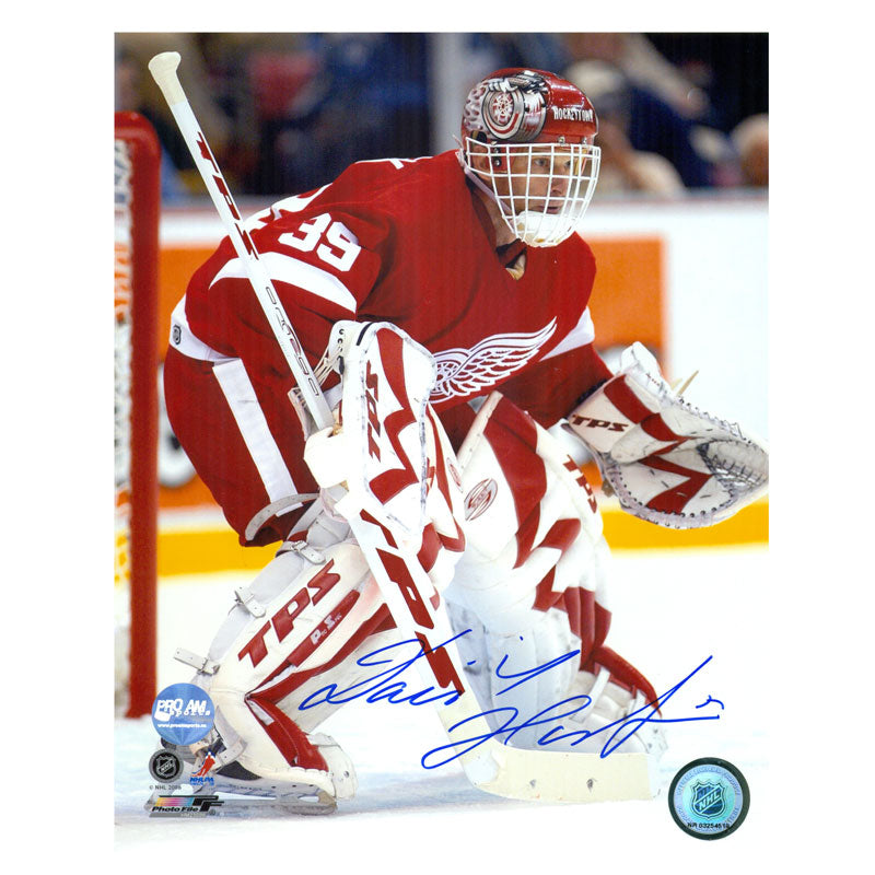 Dominik Hasek Detroit Red Wings Autographed 8x10 Photo
