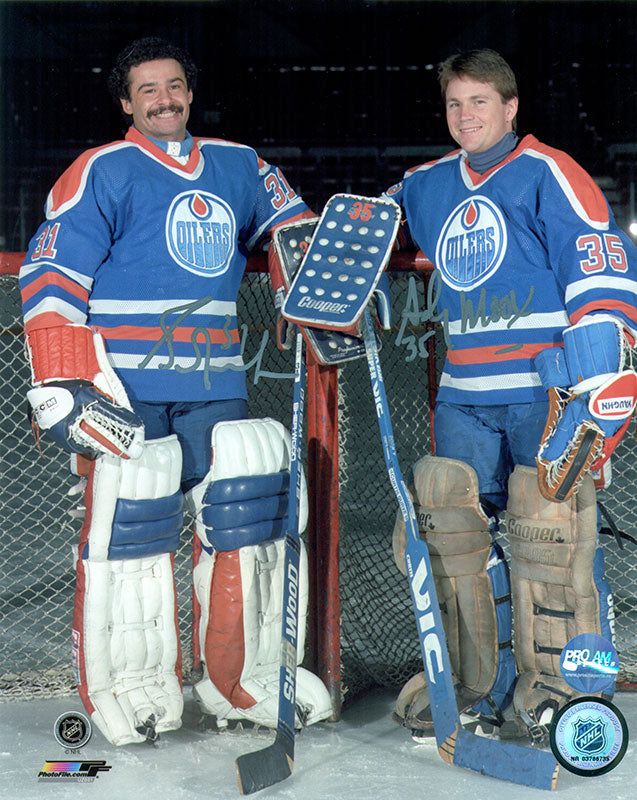 Grant Fuhr & Andy Moog Edmonton Oilers Dual Signed 8x10 Photo