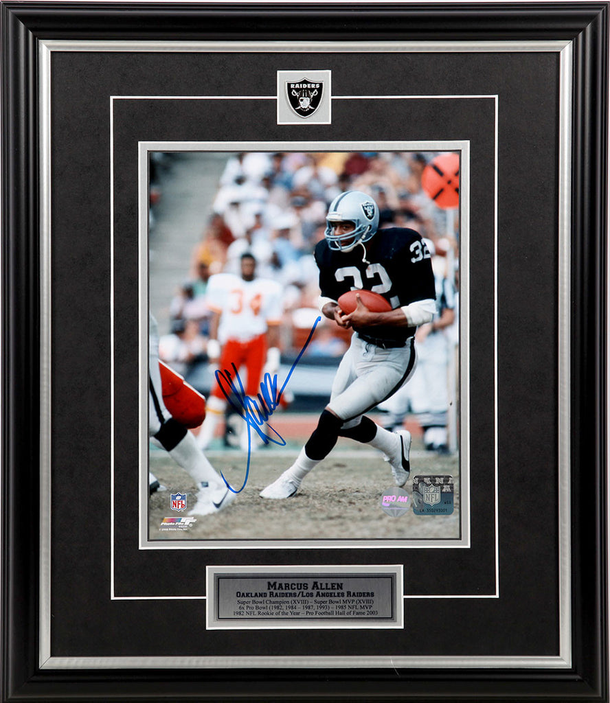 Marcus Allen Los Angeles Raiders - Black Action - Signed 8x10 Photo