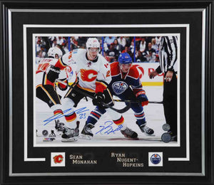 Ryan Nugent-Hopkins vs Sean Monahan Dual Signed 11x14 Photo