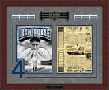 Lou Gehrig NY Yankees Final Game Framed Reproduction Scorecard