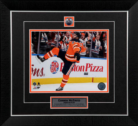 44df3b6e4a6 Connor McDavid Edmonton Oilers Framed 8x10 Photo. Photo File.  79.95. Connor  McDavid Edmonton Oilers Toddler Home Replica Jersey
