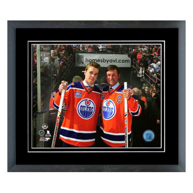Wayne Gretzky Connor McDavid Edmonton Oilers Framed 8x10 Photo