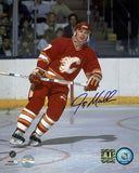 Joe Mullen - Calgary Flames Red Action Signed 8x10 Photo