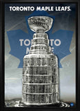 Toronto Maple Leafs Stanley Cup 24x35 Framed Canvas