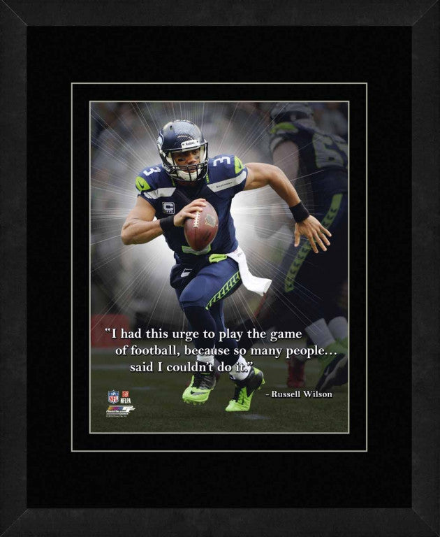 Russell Wilson Seattle Seahawks Framed 11x14 Pro Quote