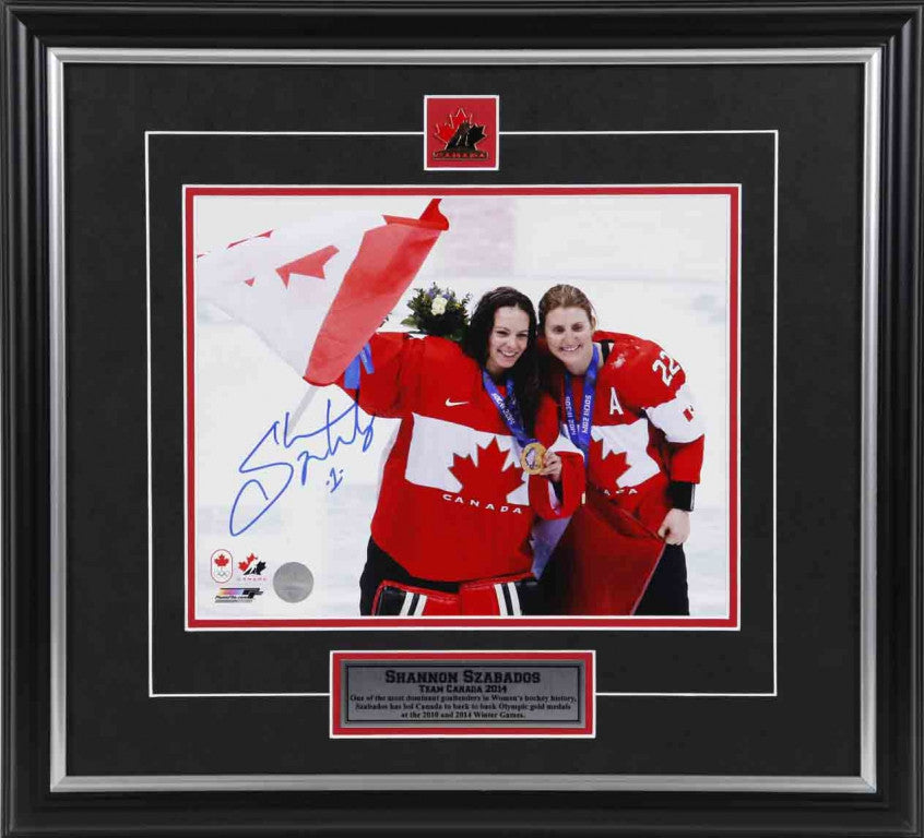 Shannon Szabados Team Canada Autographed 8x10 Photo