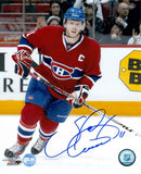 Saku Koivu Montreal Canadiens Red Action Signed 8x10 Photo