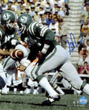 George Reed Saskatchewan Roughriders Green Action Signed 11x14 Photo