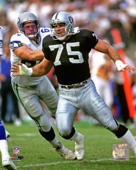 Howie Long Los Angeles Raiders 8x10 Photograph